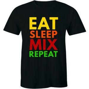 Eat Sleep Mix Repeat Funny Dj Producer Men T-shirt